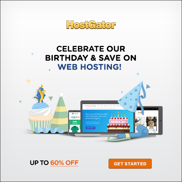 hostgator birthday party coupon code 2017