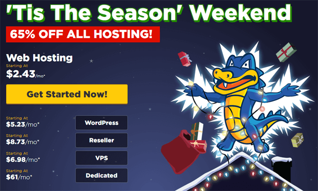 hostgator black friday cyber monday