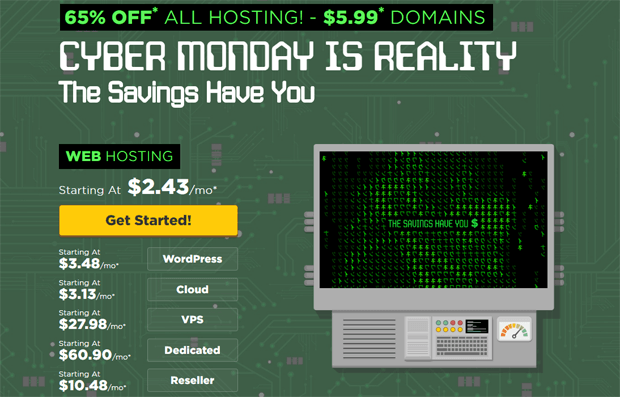 hostgator cyber monday coupon 2016