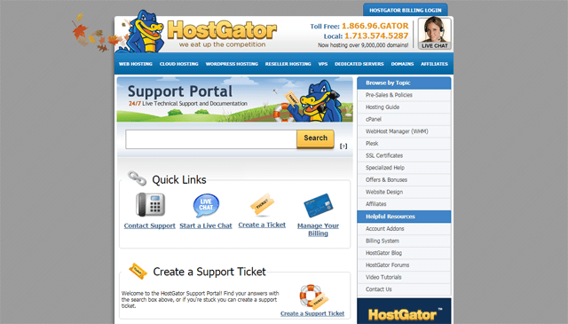 hostgator review online support center