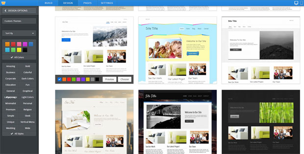 ipage choose a design for website