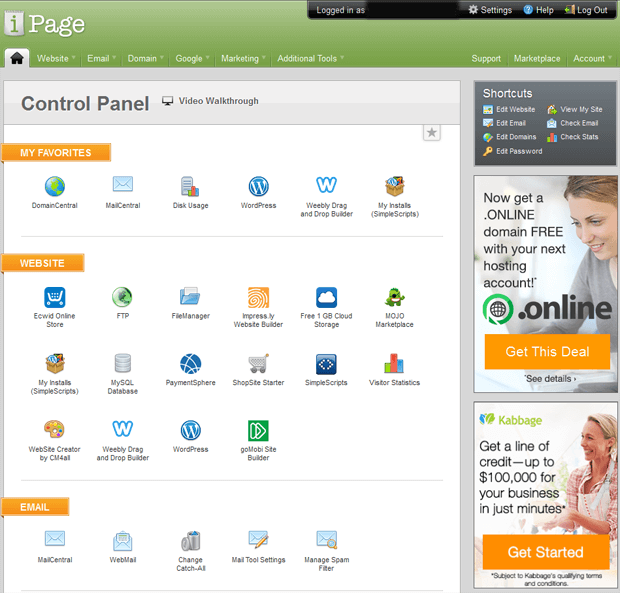 ipage vdeck control panel