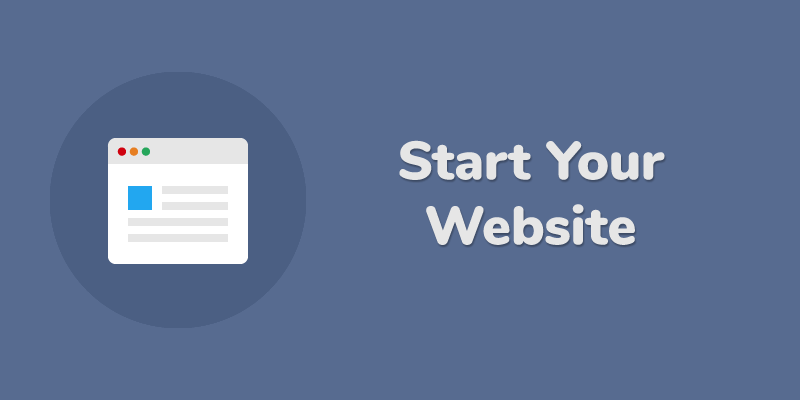 start your website
