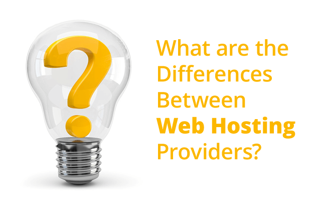 what differences between web hosting providers