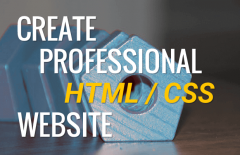 how to build a professional html css website