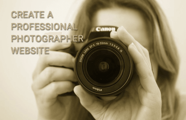 build professional photographer website