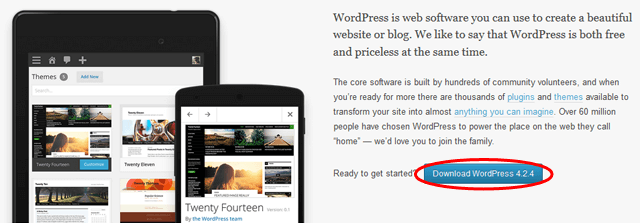 download latest wordpress version