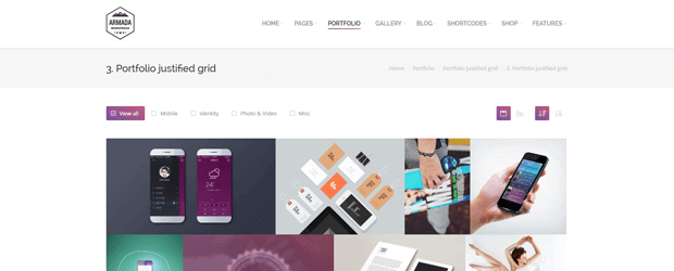 armada multifunctional wordpress theme for photographers