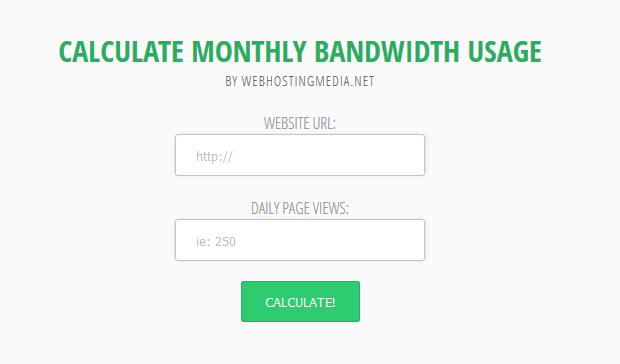 calculate website monthly data transfer