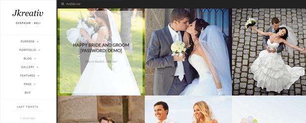 jkreative parallax wedding photography wordpress theme