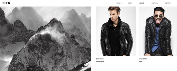 keen modern interactive photography wordpress template