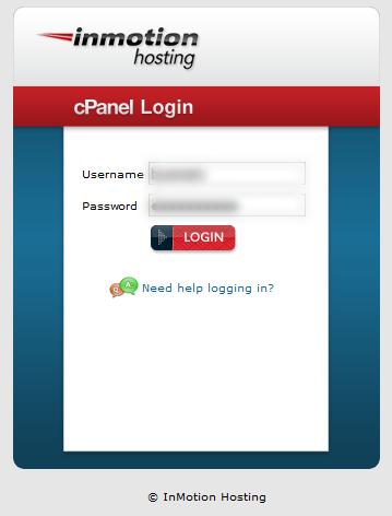 login inmotion hosting account