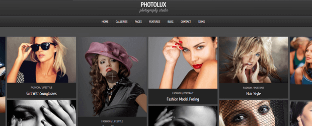photolux photography theme for wordpress