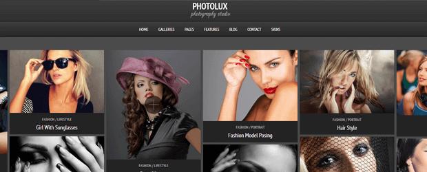 photolux photography theme for wordpress