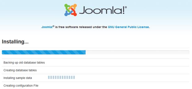 step4 installing joomla cms