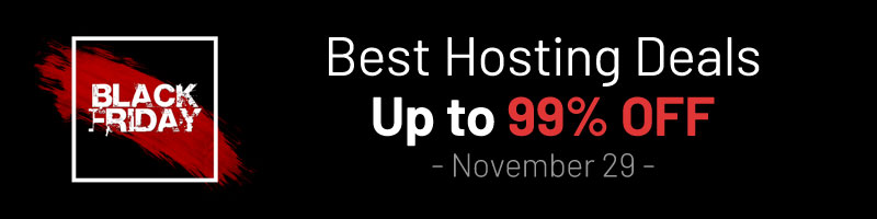 Black Friday Web Hosting Deals - 2019