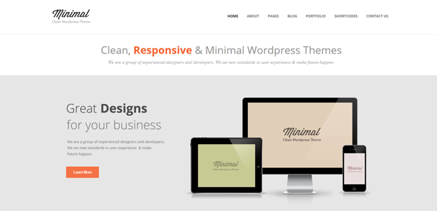 minima wordpress theme design