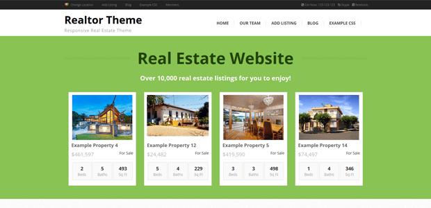 realtor wordpress real estate theme