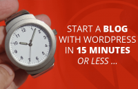 starting a blog with wordpress in 15 minutes