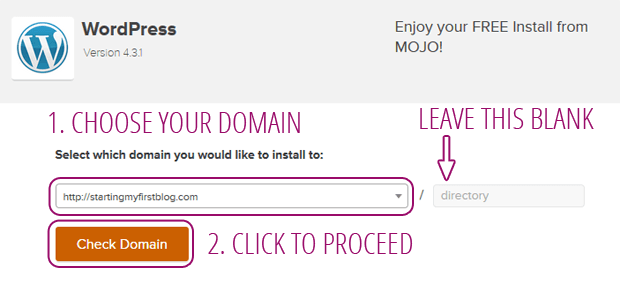 wordpress choose domain blog