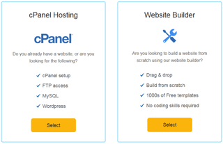 ehost easy to use cpanel website builder