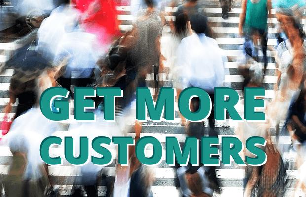 get more customers online shop website