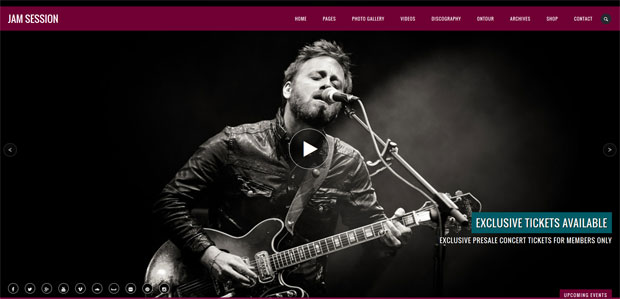 jam sessioan theme for music websites