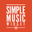simple music widget wordpress