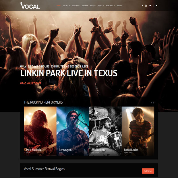 vocal musician wordpress theme