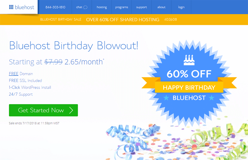 bluehost-birthday-sale-2018