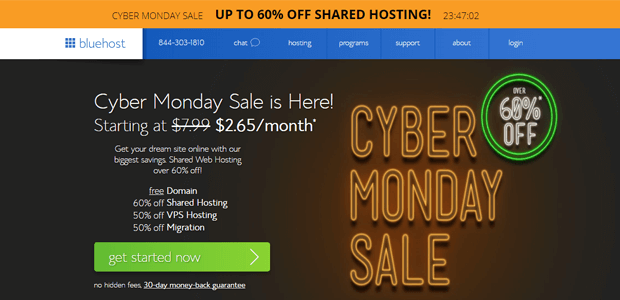 bluehost cyber monday 2017