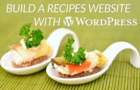 how to build recipes website with wordpress