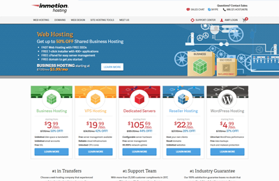 inmotion-best-hosting-multiple-websites