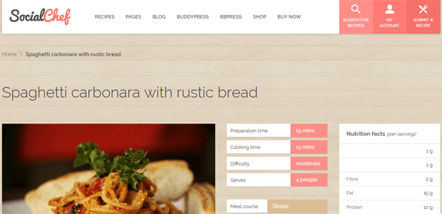 How to start a recipes website with wordpress social chef recipe food wordpress theme forumfinder Gallery