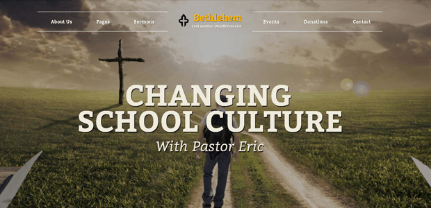 bethlehem flexible wordpress church theme