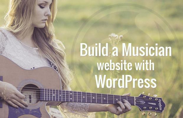 build musician website with wordpress
