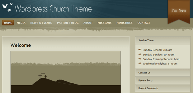church wordpress online ministry theme