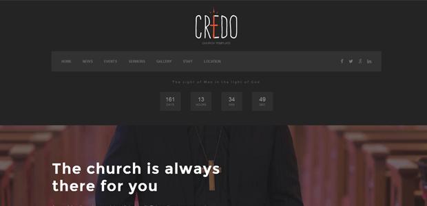 credo premium church theme wordpress