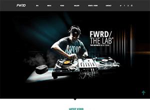 fwrd musician wordpress theme