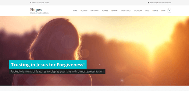 hopes christian church theme wordpress