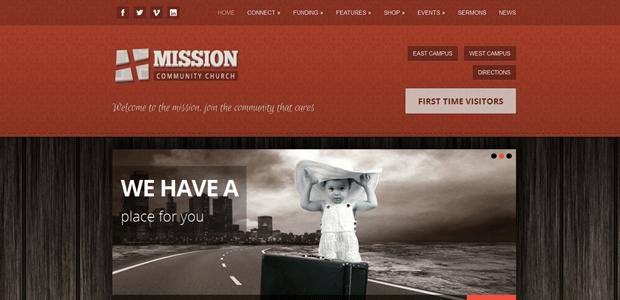 mission ecommerce church theme wordpress