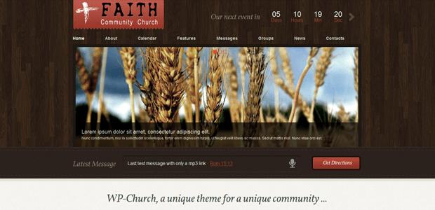 wp church faith community theme wordpress
