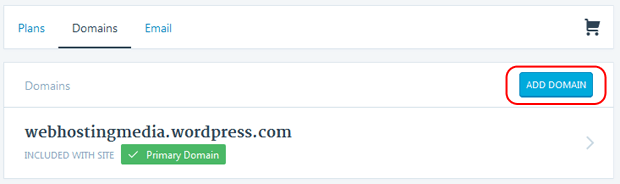 add domain wordpress com