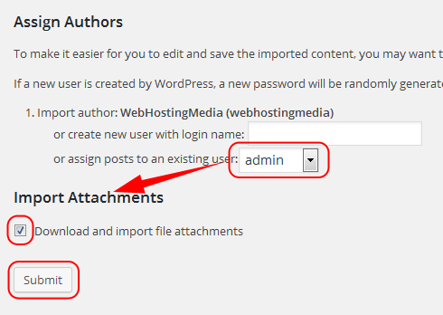 assign authors download import file attachements