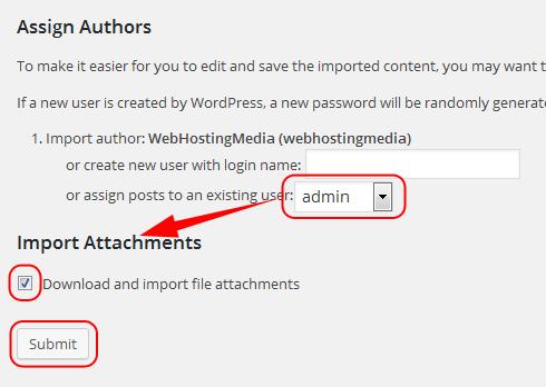 assign authors download import file attachements