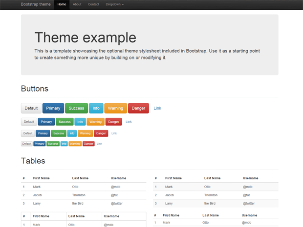 Getting started with twitter bootstrap framework for Getbootstrap com templates