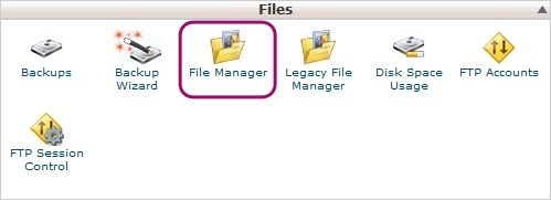 cpanel file manager wordpress website transfer