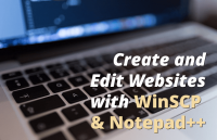 create edit websites with winscp notepad plus plus