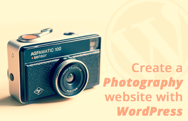 create photography website with wordpress