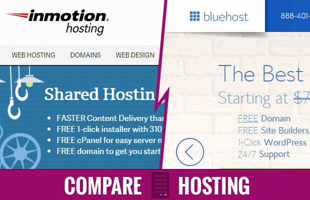 inmotion hosting vs bluehost